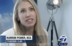 Dr. Karron Power discusses treatments for a double chin on ABC News San Francisco