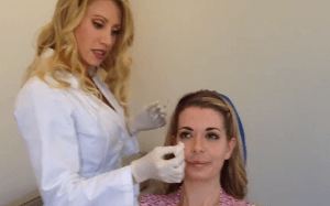Dr. Power facial volume w patient