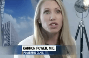 Dr. Karron Power in a recent TV interview