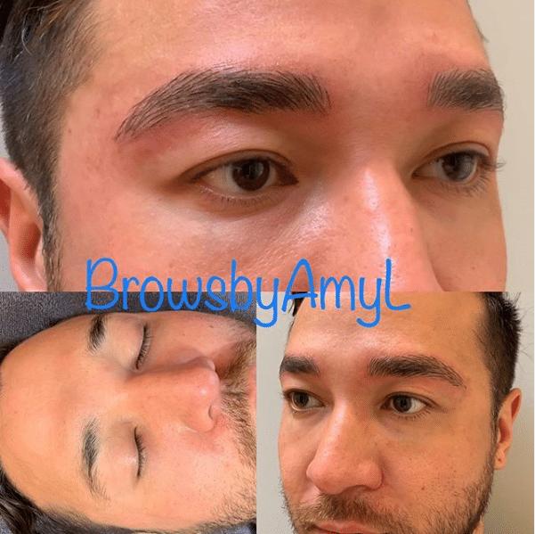Microblading brows for men at PowerMD