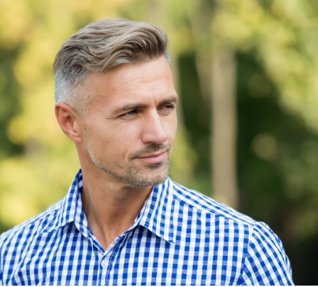 handsome and confident handsome man on summer outdoor mature person picture id1208370517